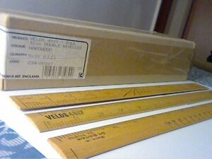 VINTAGE WOODEN RULER 12&#034; VELOS 4917 Made in Gt.Britain-HAR<wbr/>DWOOD-POSTAGE FREE!!!