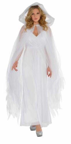 Tulle Cape Avec Capuche Accessoires Halloween Costume Sorcière Fantôme Zombie Ange Cape
