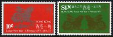 Hong Kong 302-303, MNH. New Year. Lunar Year of the Hare. Rabbit, 1975
