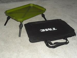 Bivvy Table Lightweight Extendable Legs Terminal Tackle Bait Table, carp, bag