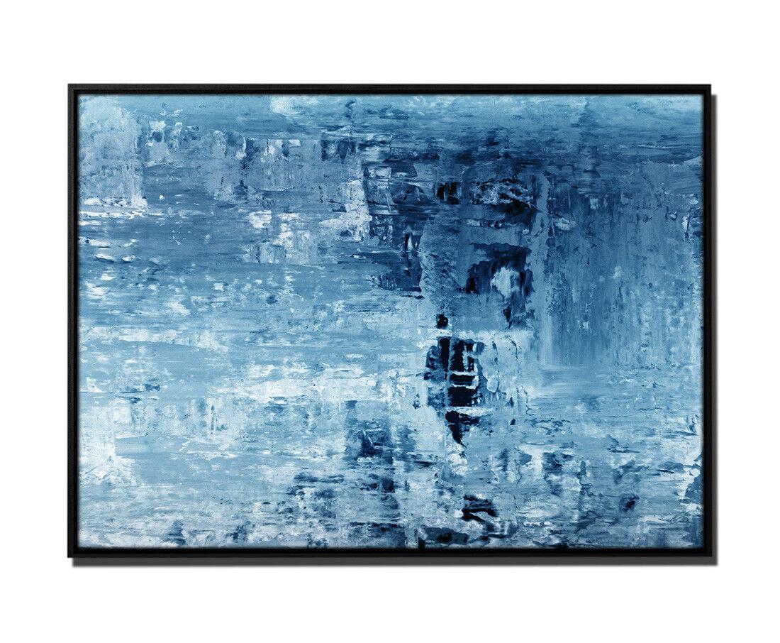 105x75cm Leinwandbild Petrol Abstrakt Gemälde II