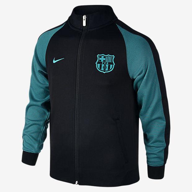 factory price super popular fresh styles NIKE FC BARCELONA AUTHENTIC N98 YOUTH JACKET 2016/17 Black/Energy/Energy