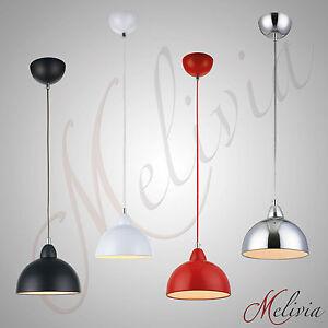 Lampara-Colgante-Rojo-Blanco-Negro-Cromado-De-Techo-Suspension-Iluminacion