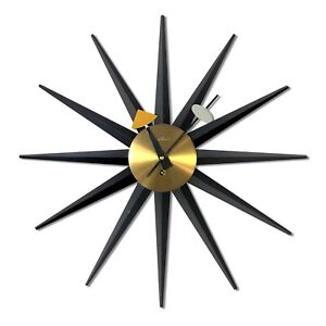 Details About George Nelson Original 1950 S Wind Up Sunburst Clock Howard Miller Model 2202