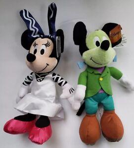 2018-Mickey-amp-Minnie-Mouse-Halloween-Plush-10-034-SET-OF-2-NWT