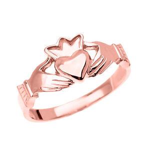 fine rose gold dainty ladies claddagh crown ring ebay. Black Bedroom Furniture Sets. Home Design Ideas