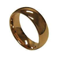 8mm Men's Rose Gold Tungsten Carbide Wedding Anniversary Band Ring