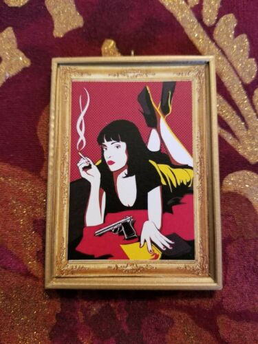 Pulp Fiction Mia Wallace Handmade Christmas Tree Ornament//Magnet//DHM