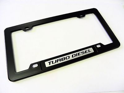 For 3.8L L67 Car Trunk Emblem with Black ABS License Plate Tag Frame Cover 2PCS