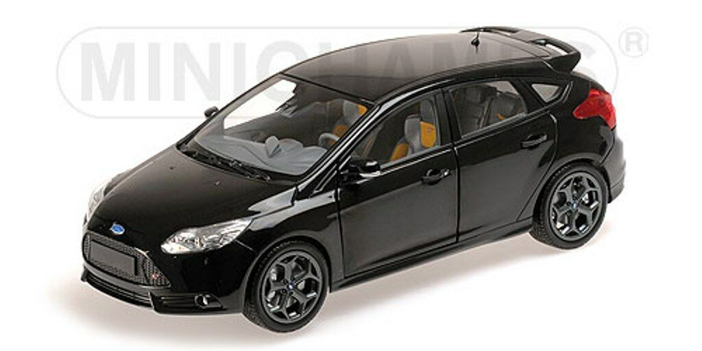 Minichamps 110 082000 FORD Focus ST Auto STRADALE diecast negro Metallizzato 2011 1 18th