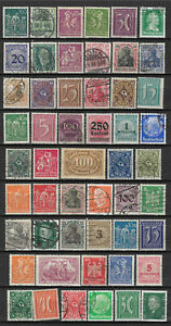 GERMANY-1872-1932-ERA-STAMP-COLLECTION-PACKET-of-50-DIFFERENT-Stamps
