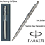 GIFT PERSONALISED ENGRAVED PARKER CLASSIC STAINLESS STEEL SILVER BALL POINT PEN