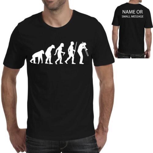 ÉVOLUTION DE TROMBONE Player Custom T-Shirt Drôle Anniversaire Cadeau Singe Homme Sport