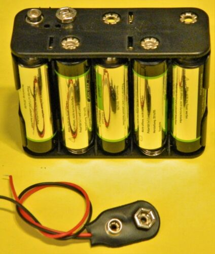 Batterieclip 9V Block Batterie I-Form mit Anschlußkabel NEU DHL DE
