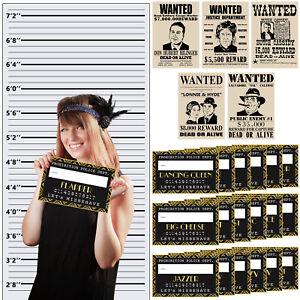Roaring-20s-Photo-Booth-Props-Mug-Shot-Height-Chart-Backdrop-Wanted-Poster