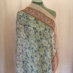 9b5dcfed2a Image is loading Vintage-1960-s-Cacharel-Silk-Floral-Scarf