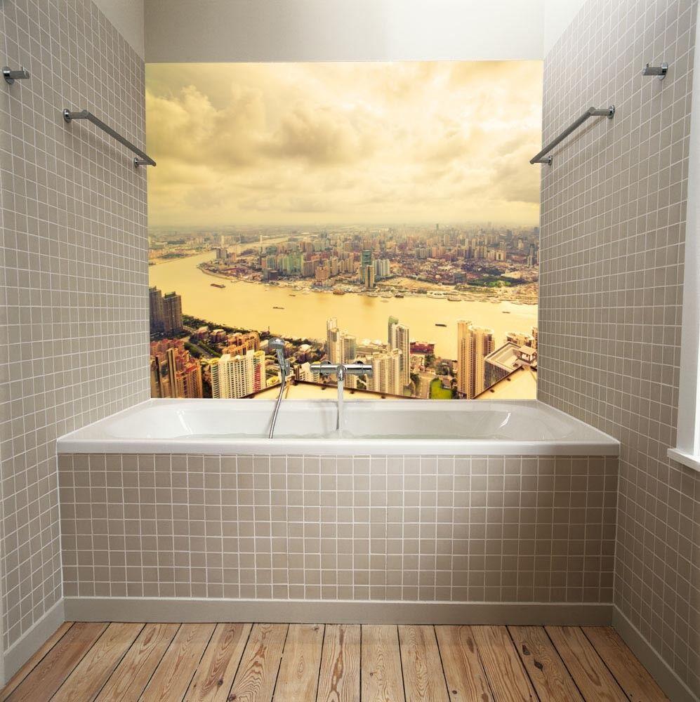 3D Clouds City River 689 Wall Paper Wall Print Decal Deco Indoor Wall Mural CA