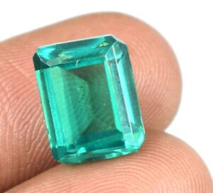 Emerald Cut 9.05 Ct 100% Natural Colombian Emerald Loose Gems Certified A25541