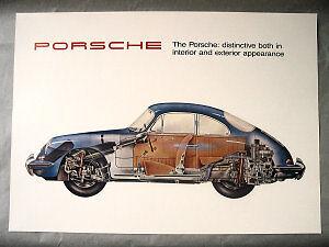 Porsche 356 Color Cutaway Poster Print Race Car Classic Vintage Ebay