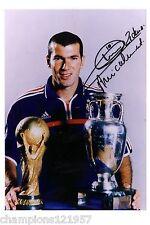 Zinedine zidane + + autógrafo + + + + campeón mundial 1998+ +