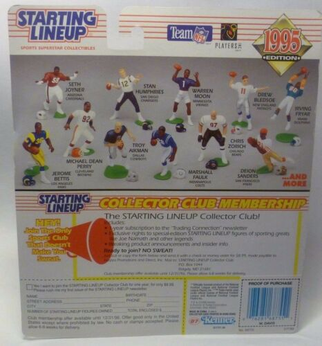 1995  WILLIE DAVIS Sports Figurine -Kansas City Chiefs SLU Starting Lineup