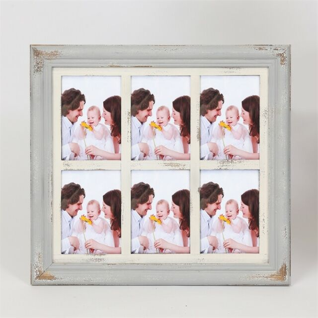 Luxen Home Vintage Six 5 X 7 Collage Picture Frame