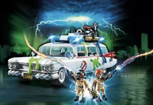 PLAYMOBIL-GHOSTBUSTERS-9220-GHOSTBUSTERS-Ecto-1-Box-Damaged-New-Factory-Sealed