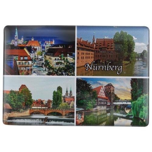 4 in 1 Foto Magnet Fotomagnet Kühlschrank Altstadt Burg Neu Nürnberg Deluxe