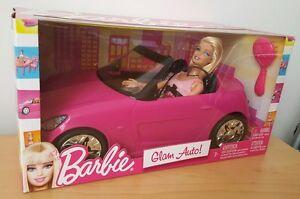 Barbie Rose Auto Glam Convertible Voiture & Poupée V6744 Jouet Cadeau Mattel * Brand New *-afficher Le Titre D'origine