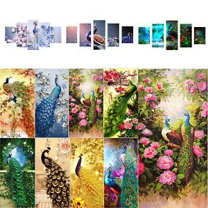 5D-DIY-Full-Drill-Diamond-Painting-Peacock-Cross-Stitch-95-45cm-Mosaic-Decor-Art