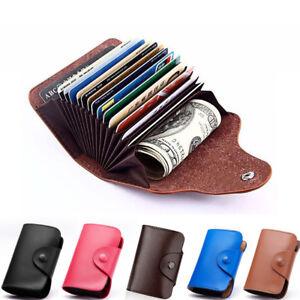Leder-Aluminium-Kartenetui-Kreditkartenetui-Geldboerse-Portemonnaie-Card-Case-DE