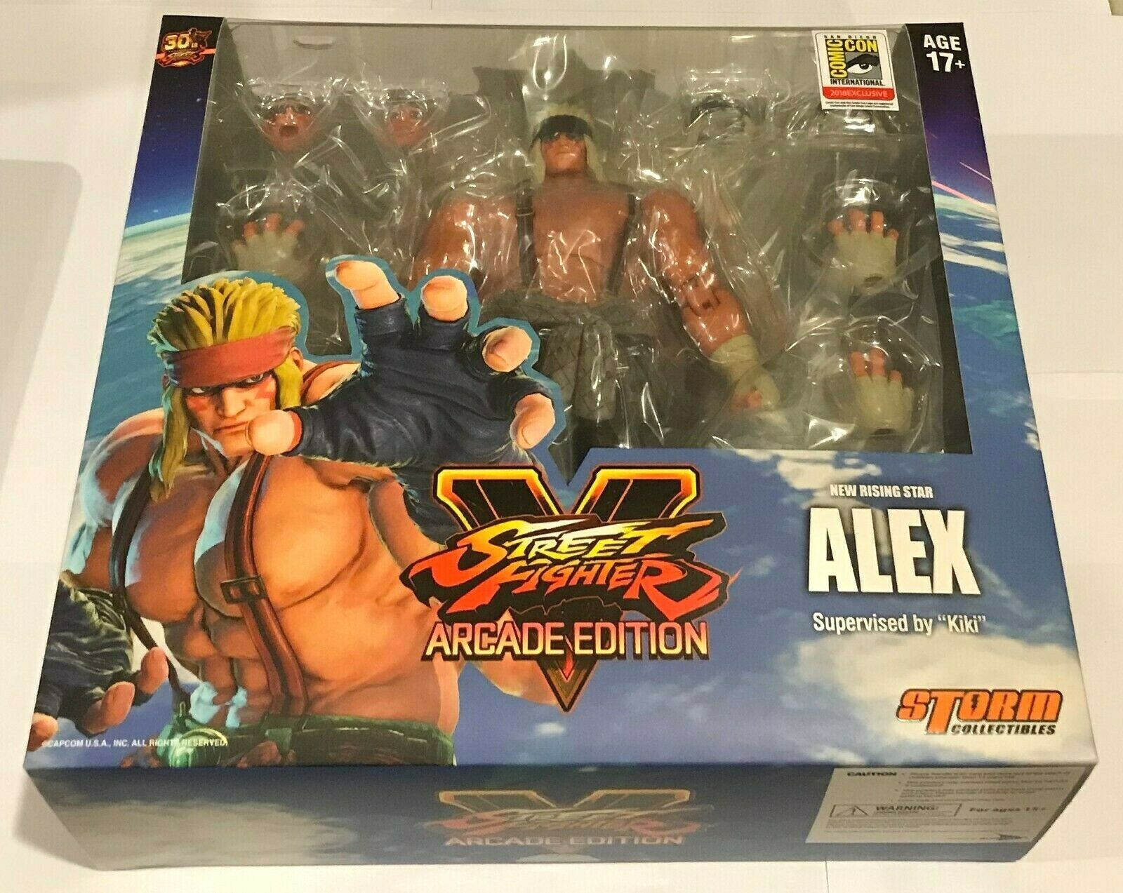 Alex SDCC 2018 Exclusive Action Figure *NEW* Street Fighter V Arcade Edition