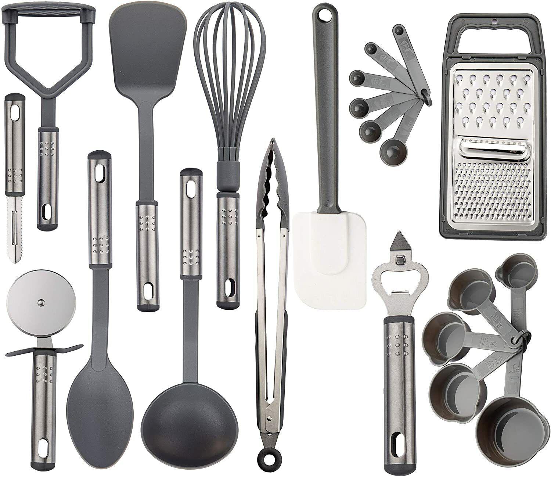 Lux Decor Collection Kitchen Utensil Set 23 Nylon Cooking Utensils Kitchen G For Sale Online