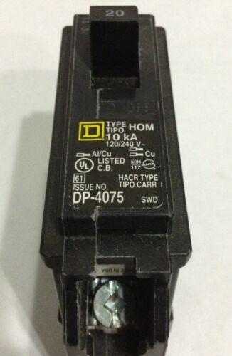 HOM120 Square D Type HOM 1 Pole 20A 240VAC Circuit Breaker 2 YEAR WARRANTY