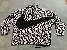 Nike Men/'s VAPOR WAVE SWOOSH WOVEN Half Zip Jacket White//Black AO0862-100 c