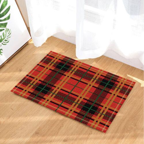 Door Mat Bathroom Rug Bedroom Carpet Bath Mats Rug Non-Slip Plaid cloth pattern