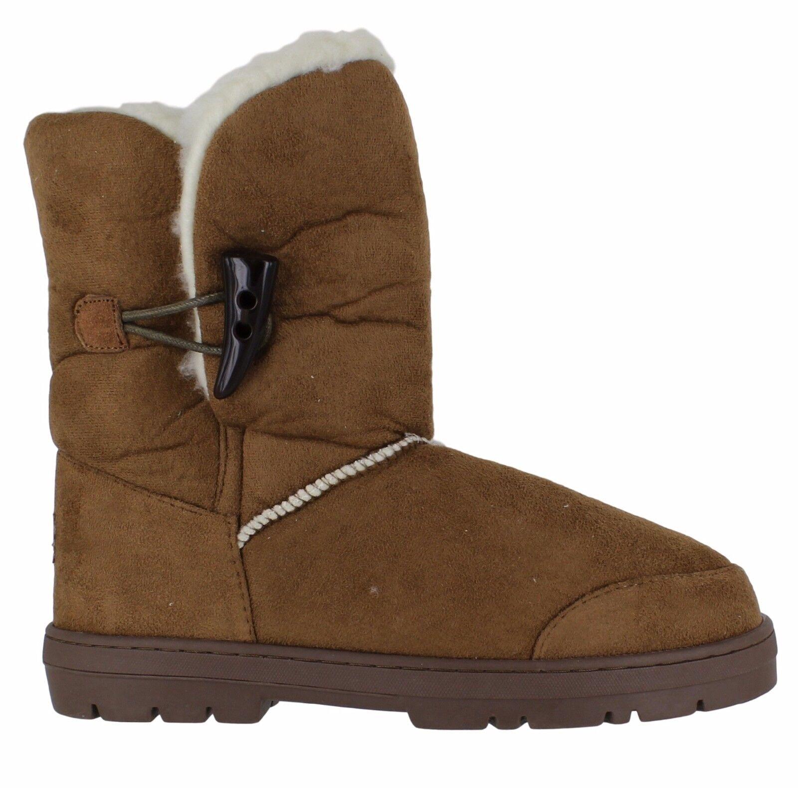 Womens Ella Shoes Sophie Chestnut Winter Fur Boots