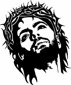 Image Is Loading Jesus Christ Crown Thorns GOD Car Truck Window
