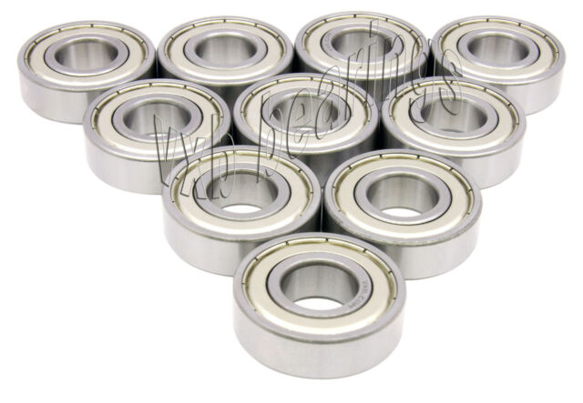 10 Bearings 6201RS 12*32*10 mm Metric Ball Bearings VXB