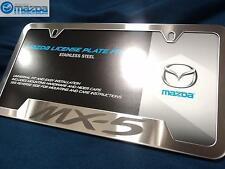 Mazda MX-5 Miata OEM Brushed Stainless Steel License Plate Frame 0000-83-D12
