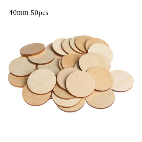 DIY Wooden Slices Round Ornament Circles Handmade Natural Craft Chip Decor Hot