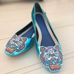 dda42e3df KENZO PUMPS FLAT SHOES CASUAL BLUE WOMEN LADIES 37 US6 NEW RARE ...