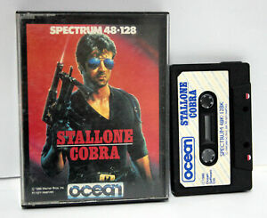 COBRA-OCEAN-STALLONE-SOFTWARE-SPECTRUM-ZX-48k-128-DATASSETTE-USED-WORK-FR1-65632