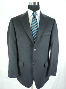 Pronto Uomo Cashmere Charcoal Gray Grey 2Button Jacket Blazer Sport Coat Men 42R