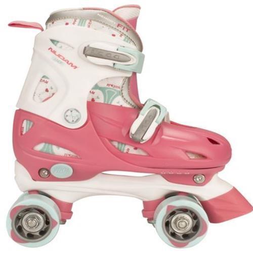 Mädchen Girls Rollschuhe Rosa Größe verstellbar 27-30, 30-33, 34-37 Skater  | Online