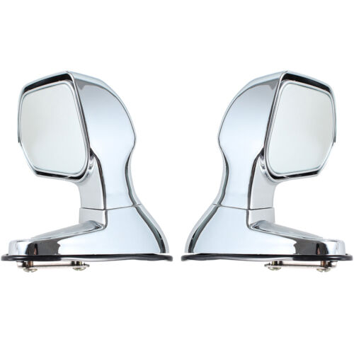 Silver Car Bonnet Mirrors Exterior Hoods Covers Blind Wide Angle Rearview Mirror