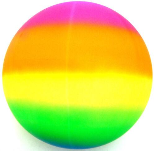 Riesen Jumbo 45.7cm Neon Regenbogen Gummi Spielplatz Spielen Strand Sport Ball