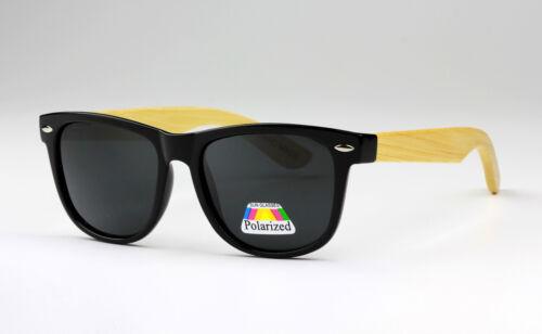 QUADRATO POLARIZZATI LEGNO TEMPIO BAMBOO Unisex Occhiali Da Sole UV400 alta qualità
