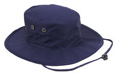 military style booniehat boonie jungle sun hat adjustable navy blue rothco 52553