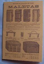 § carnet note - valises et mallettes anciennes - 15 x 10,5 cm